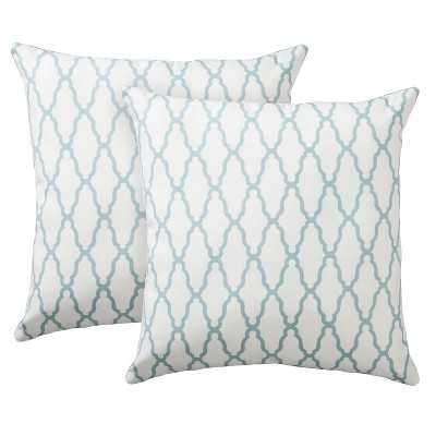 "Thresholdâ""¢ 2-Pack Trellis Toss Pillows 18""x18"" with filling - Target"