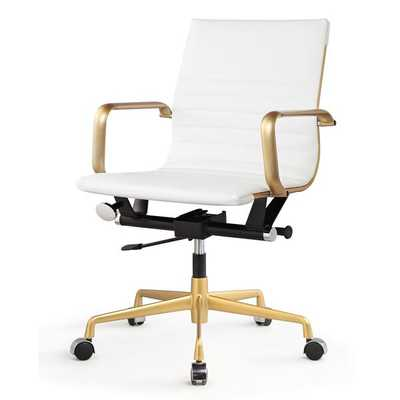 M348 Office Chair In Vegan Leather - meelano.com