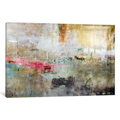 """'Rain Clouds' by Julian Spencer Painting Print on Wrapped Canvas-26"""" H x 40"""" W x 1.5"""" D- Unframed - Wayfair"""