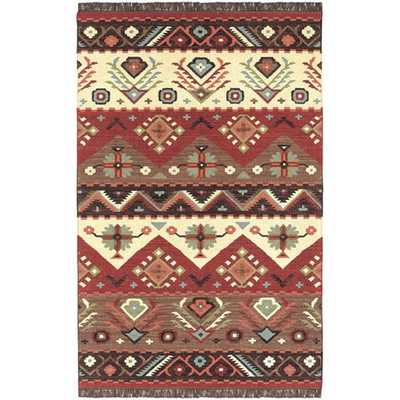 Hand-woven Southwestern Aztec Knoxville Wool Flatweave Rug - Overstock