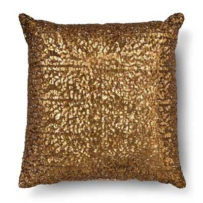 """All Over Sequin Decorative Pillow - Bronze - 16""""L x 16""""W - Polyester fill - Target"""
