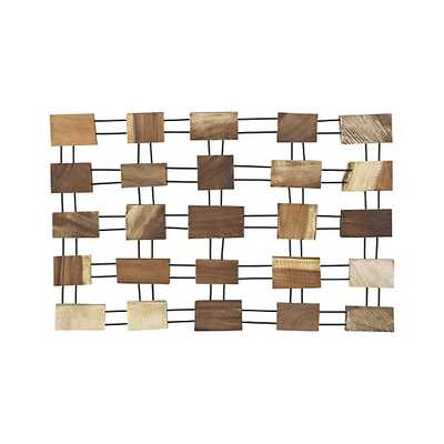 Javier Wood Wall Art - Crate and Barrel