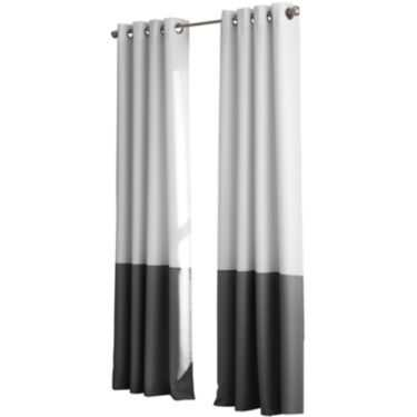 """Kendall Lined Colorblock Grommet-Top Curtain Panel- 52"""" Wx 63""""L - JC Penney"""