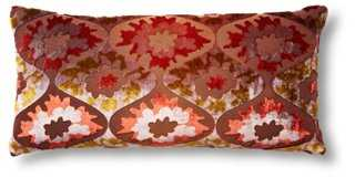 Puff Flower 7x15 Velvet Pillow - One Kings Lane