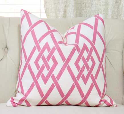 """Pink Pillow Cover - 18"""" - no insert - Etsy"""