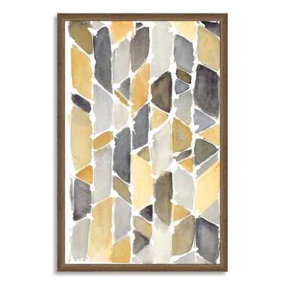 "Framed Print - Multicolor Shapes-25""w x 38""l - West Elm"