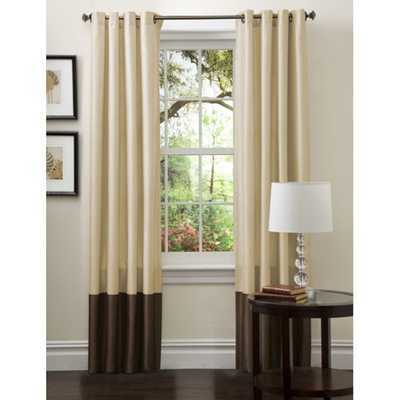 "Lush Decor Prima Gold/ Brown Curtain Panels - 54""W x 108""L - Overstock"
