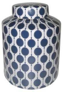 Small Bonnie Jar, Blue/White - One Kings Lane