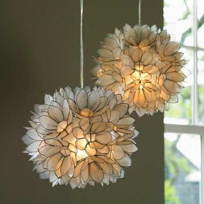 Lotus Flower Capiz Shell Chandelier - vivaterra.com