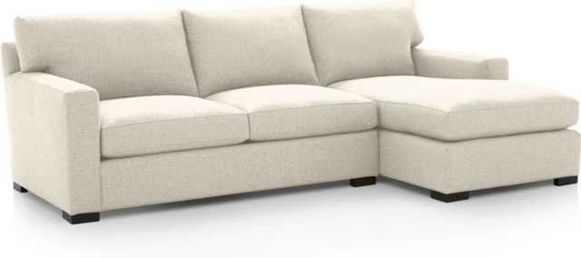 Axis II 2-Piece Sectional Sofa - Cream - Crate and Barrel