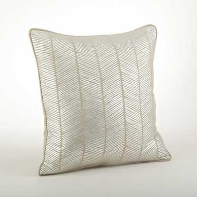 """Calista Metallic Herringbone Pillow -20"""" -Down/Feather insert - Wayfair"""