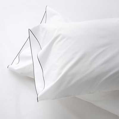Set of 2 Belo Pillowcases - Blue, Standard - Crate and Barrel