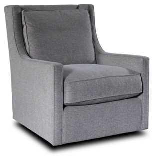 Halston Swivel Chair, Dove Gray - One Kings Lane