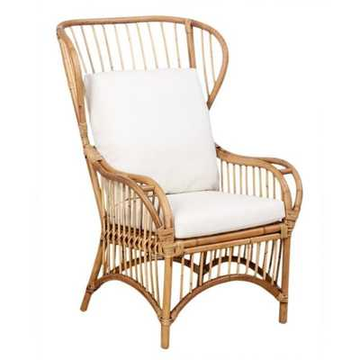 Trice Rattan Wingback Chair - Overstock