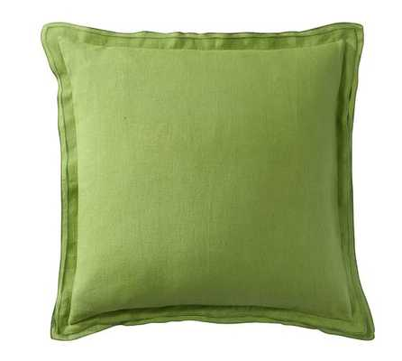 Belgian Flax Linen Flange Pillow Cover - Pottery Barn