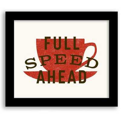 Framed Print - Full Speed - West Elm