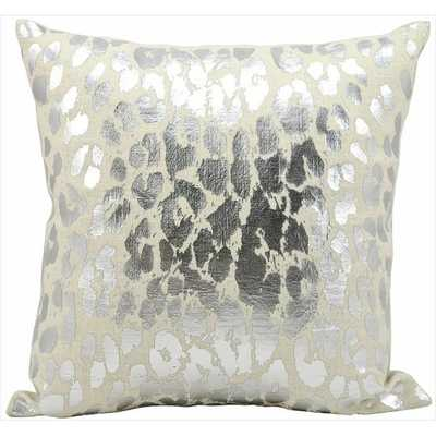 Kathy ireland by Nourison Silver 18-inch Throw Pillow - Overstock