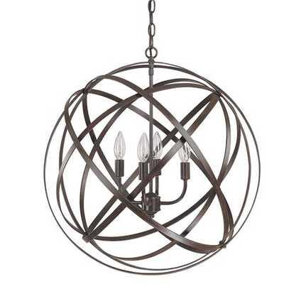 Large Metal Strap Globe Lantern - 4 light - Shades of Light