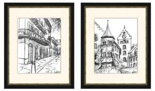 Sketches of Downtown II Diptych - One Kings Lane