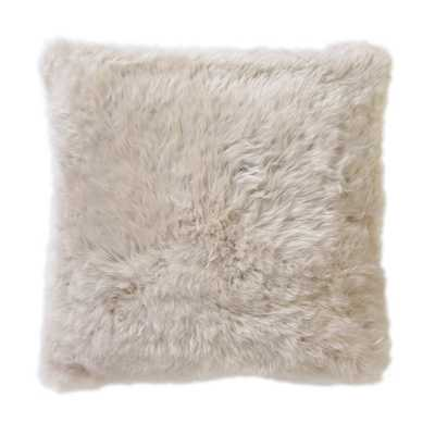 "SMOOTH SHEEPSKIN 20"" PILLOW - Natural - without insert - Dwell Studio"