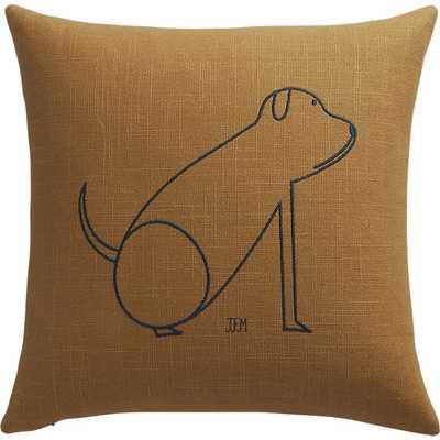 "dog 16"" pillow with down-alternative insert - CB2"