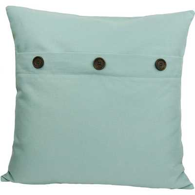 Solid Color with Buttons Feather Fill Cotton Throw Pillow - AllModern