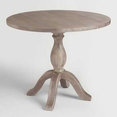 Weathered Gray Jozy Drop Leaf Dining Table - World Market/Cost Plus