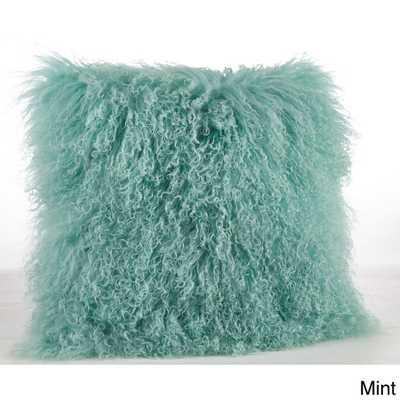 Mongolian Lamb Fur Throw Pillow - Overstock