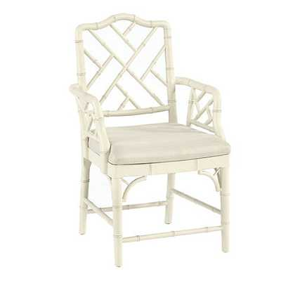 Dayna Armchair-Rubbed Cream - Ballard Designs