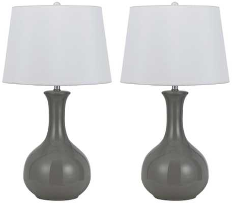 Almeria Warm Gray Ceramic Table Lamp Set of 2 - Lamps Plus