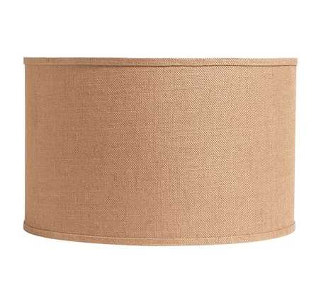 Burlap Straight-Sided Drum Lamp Shade, Large, Natural - Pottery Barn
