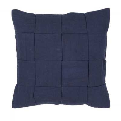 "Handmade Cotton Blue 22-inch Throw Pillow - 22"" x 22"" - no insert - Overstock"