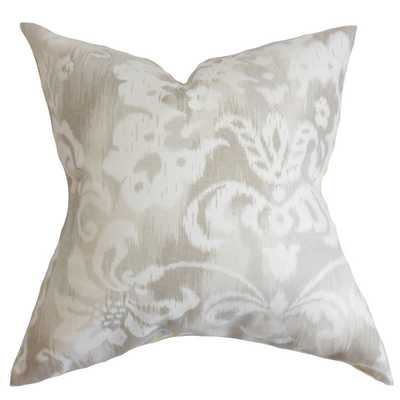 Ashira Floral Down Filled Throw Pillow Neutral - Overstock