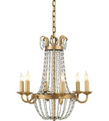 Visual Comfort E.F. Chapman Petite Paris Flea Market Chandelier in Gilded Iron and Seeded Glass CHC1 - lightingcommerce.com