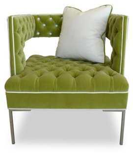 Rubric Modern Velvet Chair - One Kings Lane