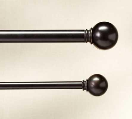 "B Standard Ball Finial, Set of 2, & .75"" diam. Drape Rod - Pottery Barn"