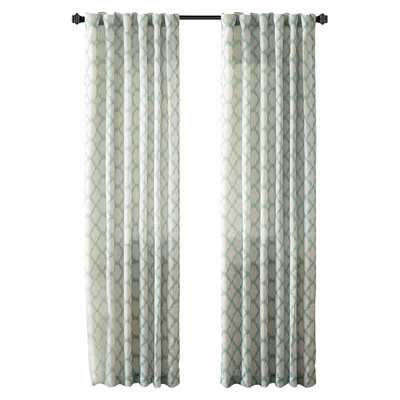 "Nakita Linen Single Curtain Panel-Aqua- 95""x50"" - Wayfair"