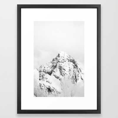 "Gspaltenhorn (black and white) - 20"" X 26"" - framed - Society6"