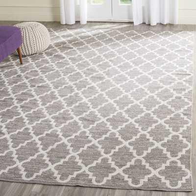 Safavieh Hand-Woven Montauk Grey/ Ivory Cotton Rug - Overstock