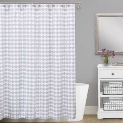 Lamont Home® Finley 54-Inch x 78-Inch Cotton Matelasse Stall Shower Curtain - Bed Bath & Beyond