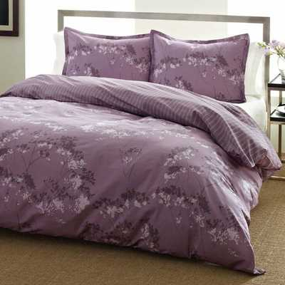 City Scene Blossom Purple Floral Reversible 3-piece Comforter Set - Overstock