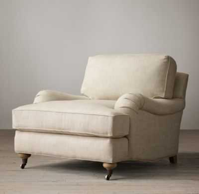 English Roll Arm Upholstered Chair - RH