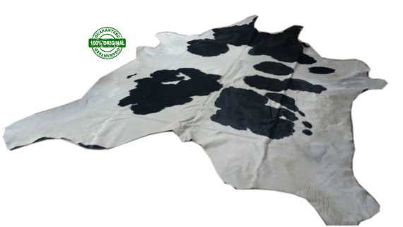 Cowhide Rug WHITE BLACK 8.2 x 7.2 ft - Etsy