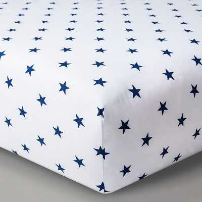 "Circoâ""¢ Woven Fitted Crib Sheet - Navy Stars - Target"