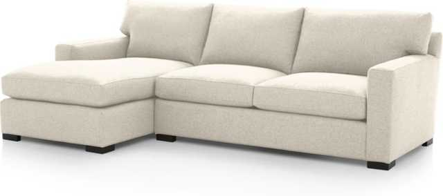 Axis II 2 Piece Sectional Sofa - Cream - Crate and Barrel