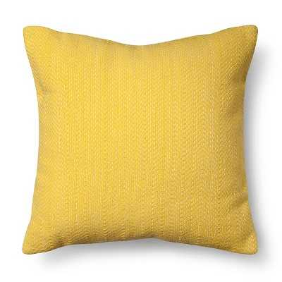 "Room Essentialsâ""¢ Stitch Solid Pillow - Yellow - 18""x18"" - Polyester Insert - Target"