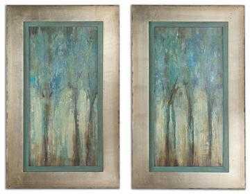 "WHISPERING WIND FRAMED WALL ART - SET OF 2 - 34.75""H x 21.25""W - Home Decorators"