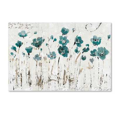 """Abstract Balance Blue"" by Lisa Audit Painting Print on Wrapped Canvas - 22"" x 32"" - Unframed - Wayfair"