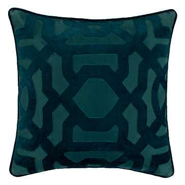 "Modello Pillow 22""-Cerulean- Feather/Down insert - Z Gallerie"