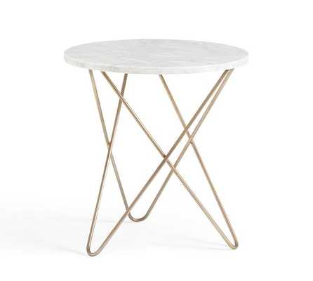 DARCY MARBLE TOP SIDE TABLE - Pottery Barn